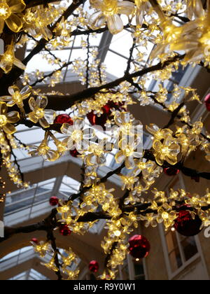 Christmas decorations in Burlington Arcade, Piccadilly, London, England. - Stock Photo