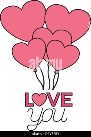 valentine day card - Stock Photo