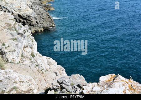 Coast of the Adriatic Sea near Pula in Croatia - Stock Photo