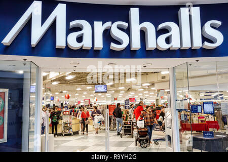Fort Ft. Lauderdale Florida Sunrise Sawgrass Mills Mall shopping Marshalls Discount Department Store front entrance - Stock Photo