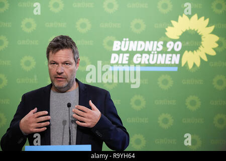 05.11.2018, Berlin, Deutschland - Robert Habeck, Bundesvorsitzender Buendnis 90/DIE GRUENEN. 00R181105D215CARO.JPG [MODEL RELEASE: NO, PROPERTY RELEAS - Stock Photo