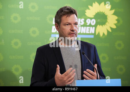 05.11.2018, Berlin, Deutschland - Robert Habeck, Bundesvorsitzender Buendnis 90/DIE GRUENEN. 00R181105D223CARO.JPG [MODEL RELEASE: NO, PROPERTY RELEAS - Stock Photo