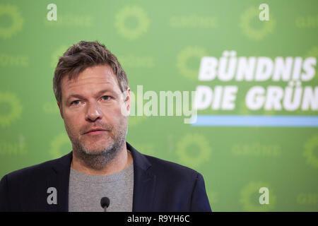 05.11.2018, Berlin, Deutschland - Robert Habeck, Bundesvorsitzender Buendnis 90/DIE GRUENEN. 00R181105D240CARO.JPG [MODEL RELEASE: NO, PROPERTY RELEAS - Stock Photo