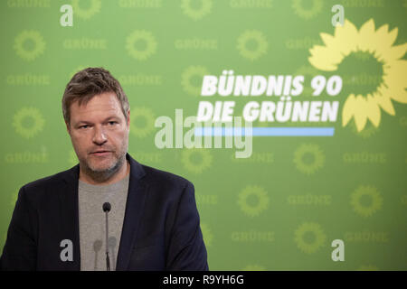 05.11.2018, Berlin, Deutschland - Robert Habeck, Bundesvorsitzender Buendnis 90/DIE GRUENEN. 00R181105D247CARO.JPG [MODEL RELEASE: NO, PROPERTY RELEAS - Stock Photo