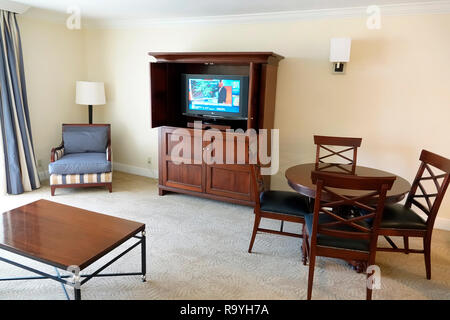 Fort Ft. Lauderdale Florida Weston Bonaventure Resort & Spa guest living room - Stock Photo