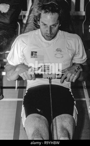 Henley, Berkshire, England,  Steve Redgrave, at the British Indoor Champions, Henley College, Concept 2 ergo's [Mandatory Credit, Peter Spurrier/ Intersport Images] - Stock Photo