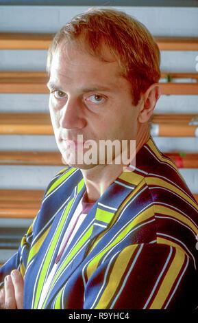 Henley, Berkshire, England,  Steve Redgrave, Leander Club Boathouse,  Vesper Rowing Vest, Stripped Blazer,  Mandatory Credit, Peter Spurrier/ Intersport Images] - Stock Photo