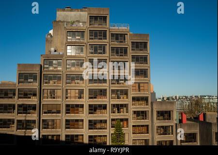 16.09.2018, Sydney, New South Wales, Australien - Ein Blick auf das bekannte Sirius-Gebaeude, einem sozialen Wohnungsbauprojekt aus den Siebzigerjahre - Stock Photo