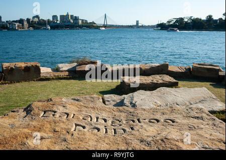17.09.2018, Sydney, New South Wales, Australien - Ein Blick vom Ufer des Barangaroo Point in Richtung Westen nach Balmain. 0SL180917D020CARO.JPG [MODE - Stock Photo