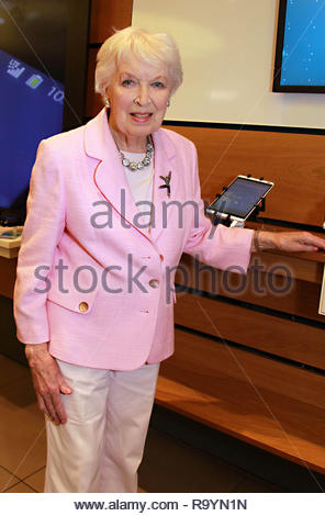 EDITORIAL USE ONLY File photo dated 09/09/2014 of June Whitfield attending the EE Techy Tea Party at Westfield London Shopping Centre, the actress has died at the age of 93, her agent has confirmed. - Stock Photo