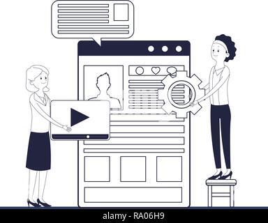 executive businesswomen vector illustration graphic design - Stock Photo