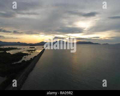 Sunset at Gampong Jawa Banda Aceh - Stock Photo