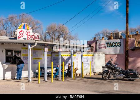 Espanola New Mexico Usa El Parasol Restaurant Stock Photo