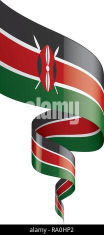 Kenya flag, vector illustration on a white background - Stock Photo