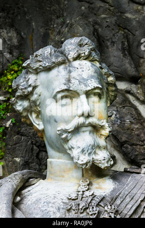 monument showing ludwig II of bavaria - Stock Photo