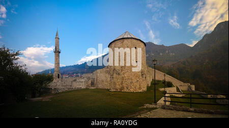Exterior panorama view to Travnik Fortress in Bosnia and Herzegovina - Stock Photo