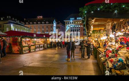 Bolzano Christmas market in the evening. Trentino Alto Adige, Italy. - Stock Photo