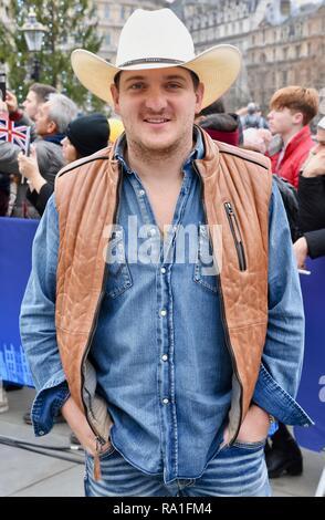 London, UK. 30th Dec, 2018. Kaleb Lee,London's New Year's Day Parade,Trafalgar Square,London.UK Credit: michael melia/Alamy Live News - Stock Photo
