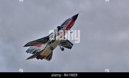 Italian Air Force Panavia Tornado A-200 displays at the Royal International Air Tattoo (RIAT) 2017