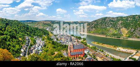 Oberwesel, Rhine Valley, Germany - Stock Photo