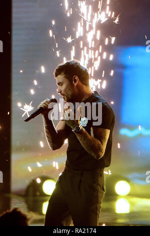 Jonas Blue and Liam Payne perform on the 6th episode of 'X Factor Italy series 12'  Featuring: Liam Payne Where: Milan, Italy When: 29 Nov 2018 Credit: IPA/WENN.com  **Only available for publication in UK, USA, Germany, Austria, Switzerland** - Stock Photo