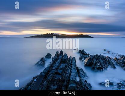 Ardwall Island from Carrick shore, Dumfries & Galloway, Scotland - Stock Photo