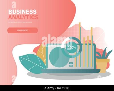 Data analysis concept. Can use for web banner, infographics. - Stock Photo