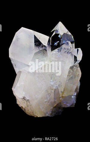 Quartz Crystal Cluster, crystals - Stock Photo