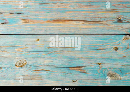 Blue wooden background. Blue faded painted wooden texture, background, wallpaper. Wooden background, painted surface blue boards. Antique texture for  - Stock Photo