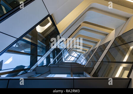 Interior of the Jockey Club Innovation Tower at Hong Kong Polytechnic University - Stock Photo