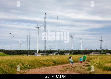 Wind Turbines on Prince Edward Island - Stock Photo