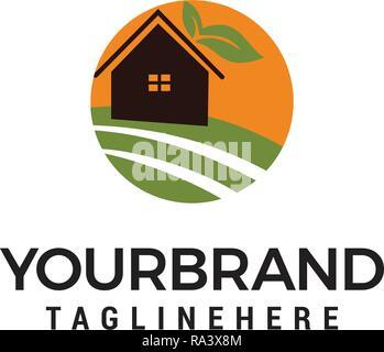 farm House Logo Design Template - Stock Photo