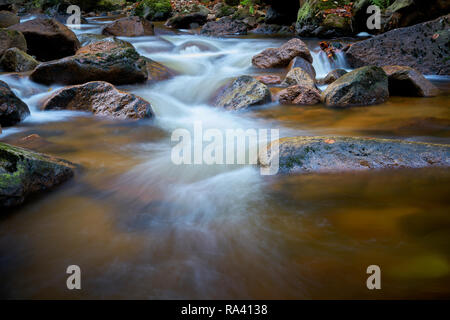 the river Ilse at Ilsenburg in the Harz National Park - Stock Photo