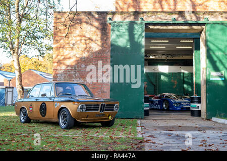 1972 BMW 2002 at Bicester heritage centre autumn sunday scramble event. Bicester, Oxfordshire, UK - Stock Photo