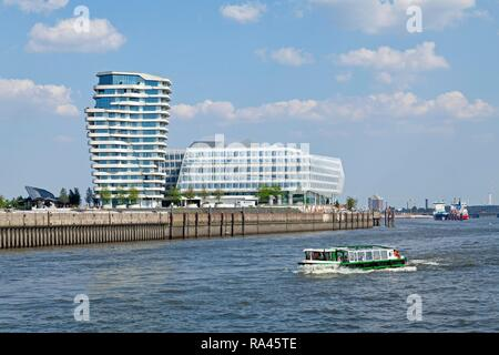 Marco Polo Tower, Unilever House, HafenCity, Hamburg, Germany - Stock Photo