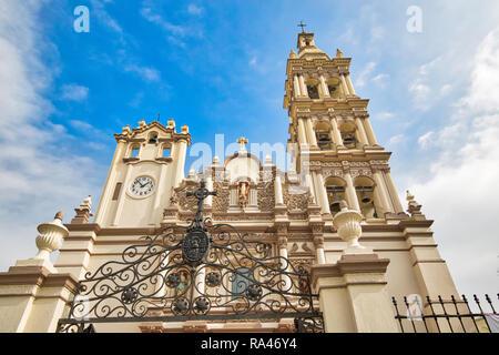 Monterrey, Macroplaza, Metropolitan Cathedral (Catedral Metropolitana de Monterrey) - Stock Photo