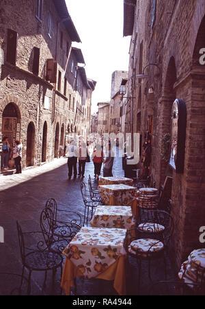 Via San Giovanni,San Gimignano,Italy - Stock Photo