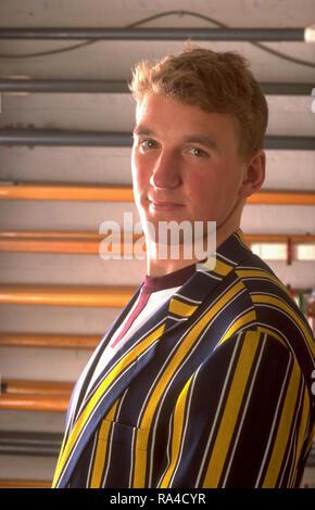 Henley, Berkshire, England, Leander Boat House  Vesper Rowing Vest, Stripped Blazer, Matthew Pinsent [Mandatory Credit Peter Spurrier/ Intersport Images] - Stock Photo