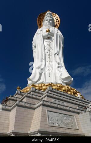 Guanyin of the South Sea of Sanya, statue, Nanshan Temple, Sanya, Hainan Island, China - Stock Photo