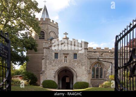 parish church of St Mary the Virgin, Great Shelford, Cambridge, Cambridgeshire, England - Stock Photo