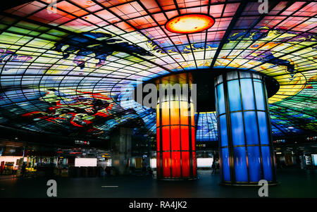 Kaohsiung, Taiwan - May 7, 2018 : The Dome of Light at Formosa Boulevard station - Stock Photo