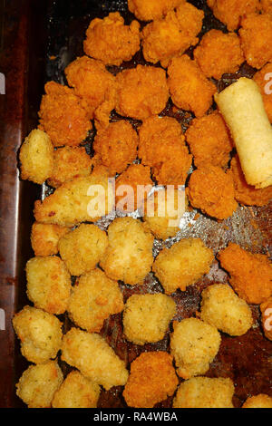 Various types of party food - Stock Photo