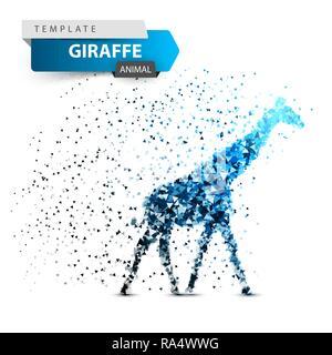 Giraffe dot - ice splatter illustration. - Stock Photo