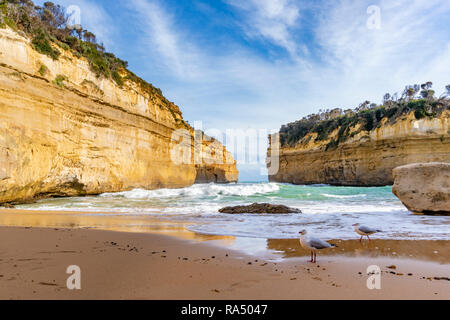 Loch Ard Gorge along the Great Ocean Road in Australia - Stock Photo