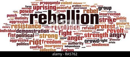 Rebellion word cloud concept. Vector illustration - Stock Photo