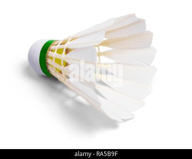 White Feather Shuttlecocks Badminton - Stock Photo
