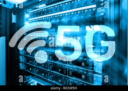 5G Fast Wireless internet connection Communication Mobile Technology concept. Future Communications Technology - Stock Photo