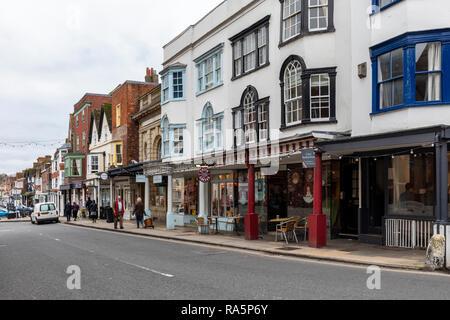 High Street, Marlborough, Wiltshire, England - Stock Photo