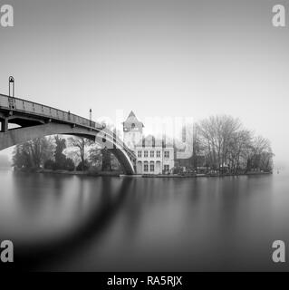 The Abbey Bridge connects Berlin Treptow Köpenick across the Spree with the Island of Youth, Berlin, Germany - Stock Photo