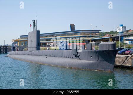 U-boat in the harbour, Sassnitz, Ruegen Island, Mecklenburg-Western Pomerania